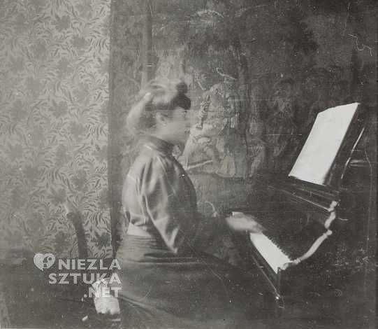Édouard Vuillard Misia Natanson przy fortepianie | 1899, theredlist.com