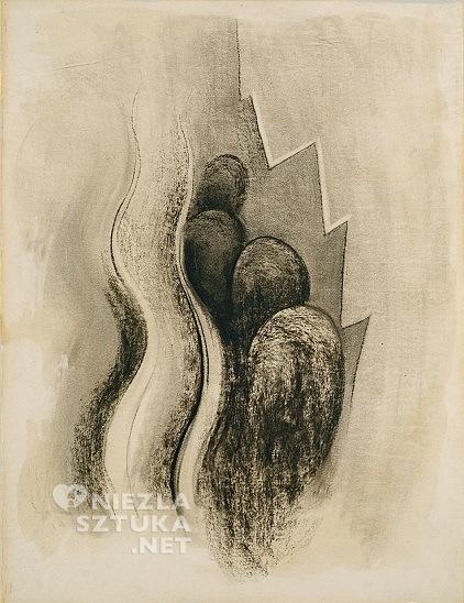 Georgia O'Keeffe, Drawing XIII, 1915, fot. wikipedia.org