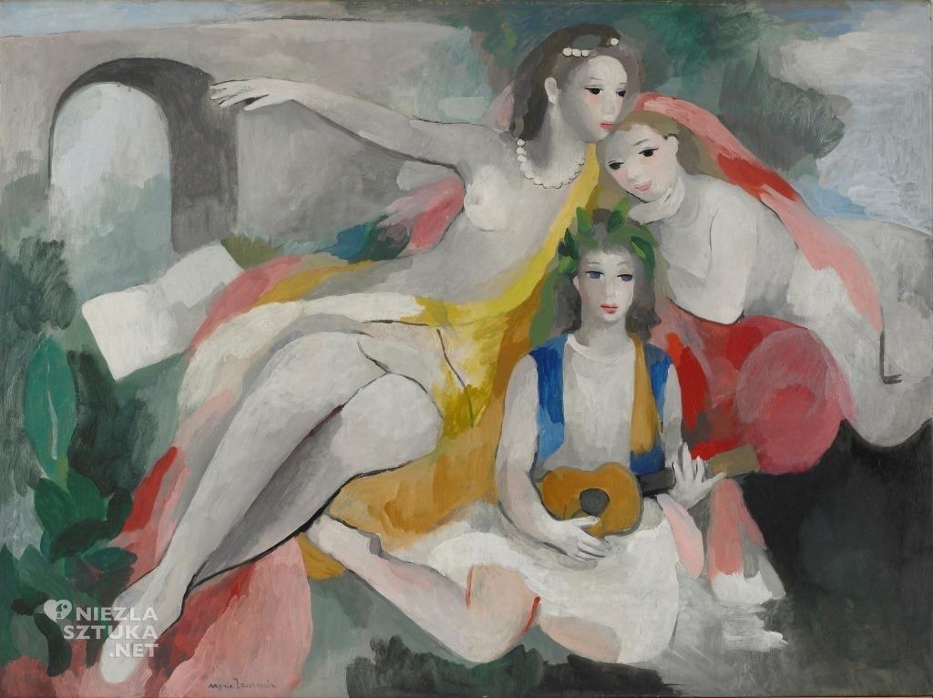 Marie Laurencin Trzy młode kobiety | 1953, fot.: wikipedia.org