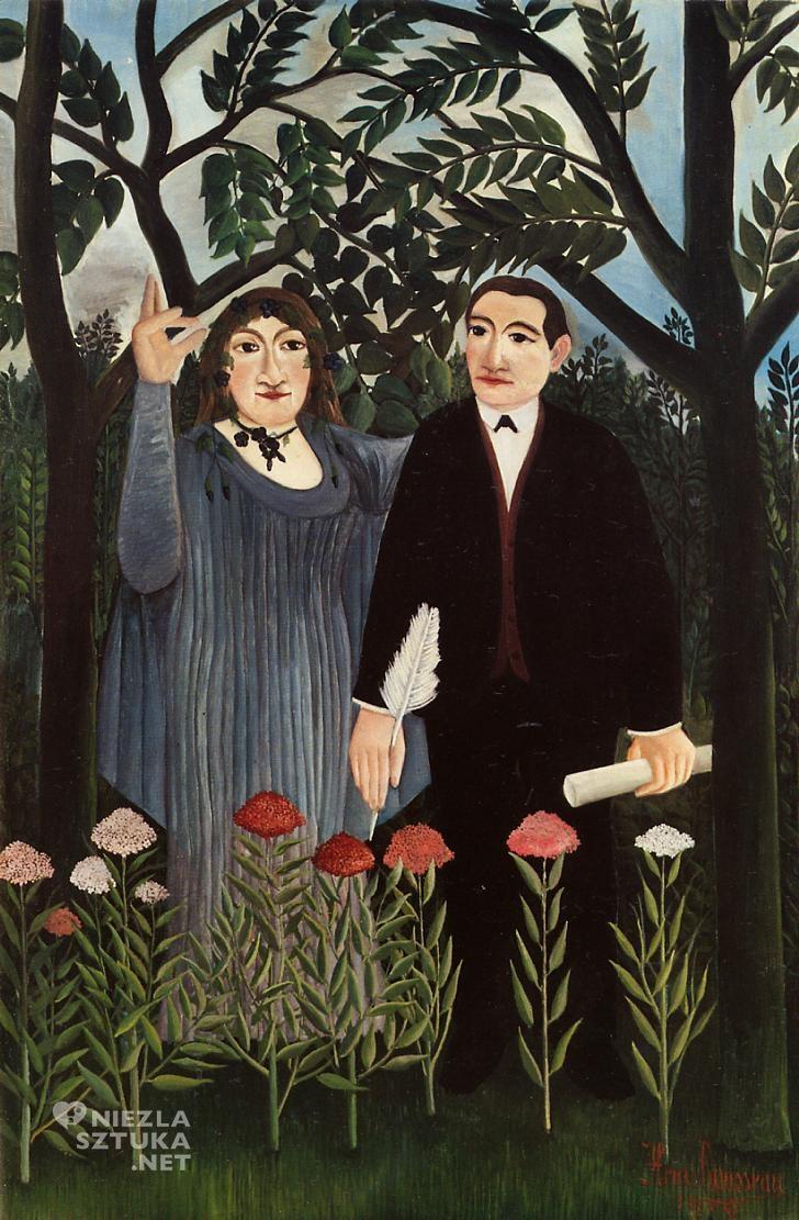 Henri Rousseau Muza inspirująca poetę Apollinaire Maria Laurencin