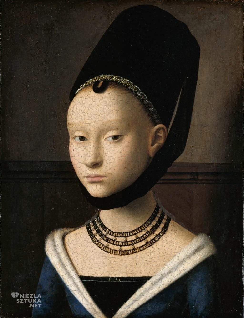 Petrus Christus, Portret młodej kobiety, Gemäldegalerie, Berlin, Niezła sztuka