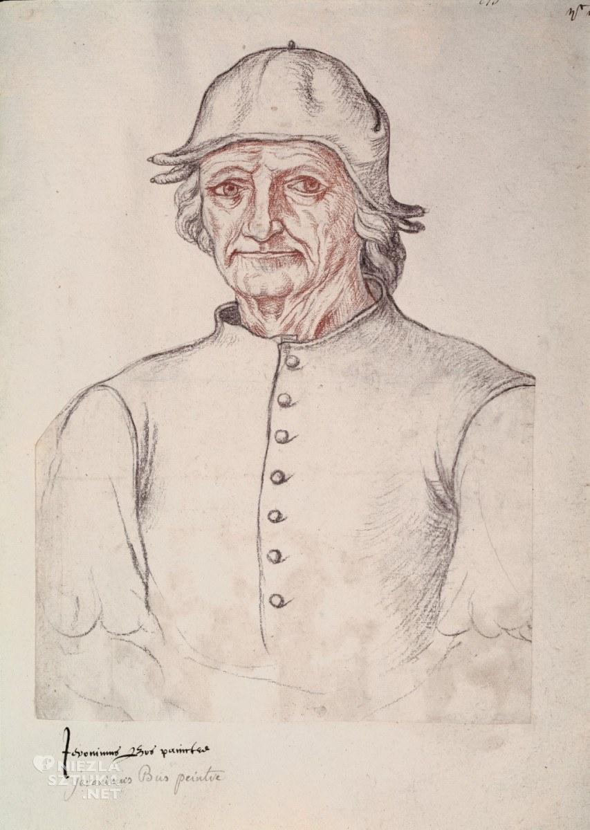 Jacques Le Boucq, Portret Hieronima Boscha, ok. 1550, Arras, Bibliothèque Municipale