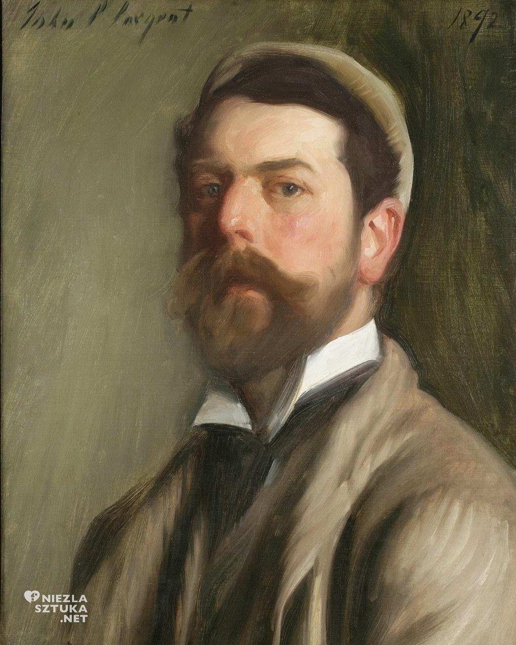 John Singer Sargent Autoportret, 1892 National Academy Museum, Nowy Jork, Niezła sztuka