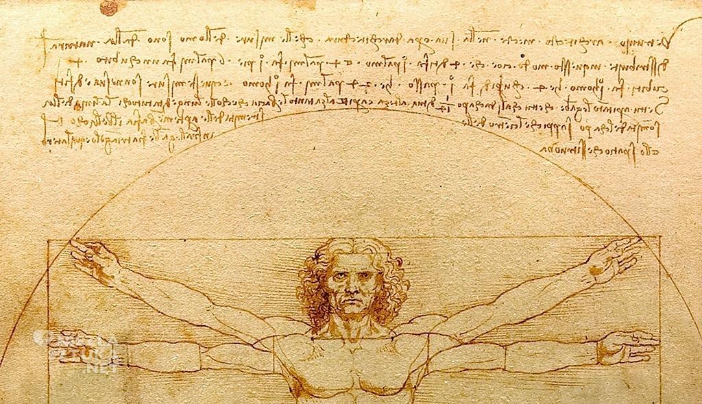 Leonardo da Vinci Człowiek witruwiański