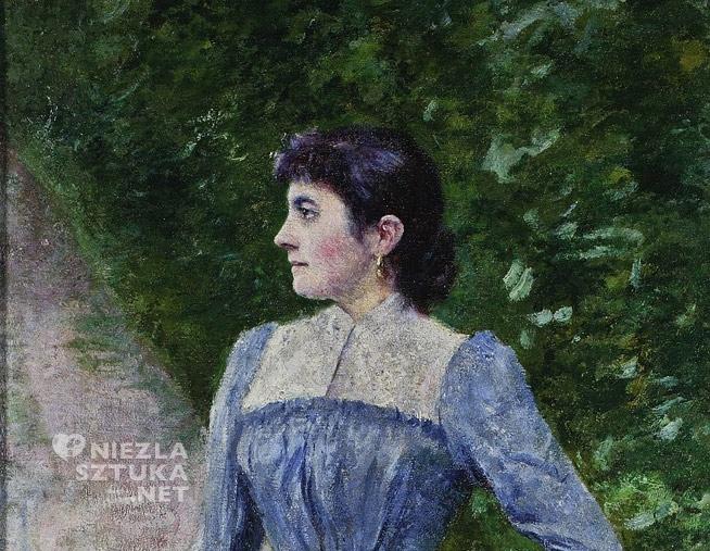 Władysław Podkowiński, Portret Wincentyny Karskiej, malarstwo polskie, sztuka polska, Niezła Sztuka