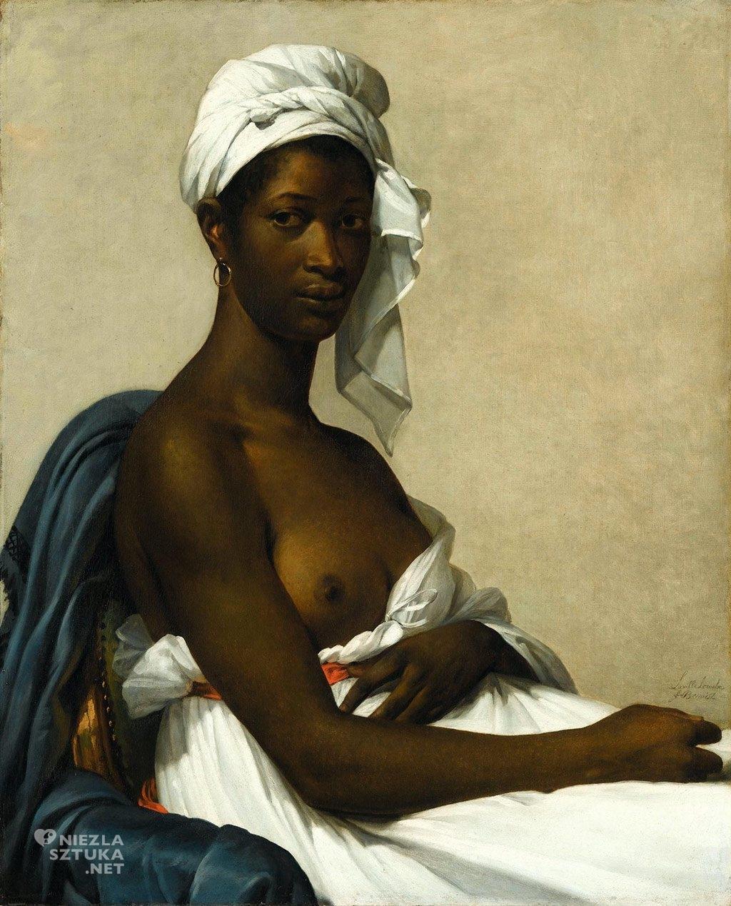 Marie-Guillemine Benoist, Portret murzynki, portret, francuska malarka, Niezła sztuka