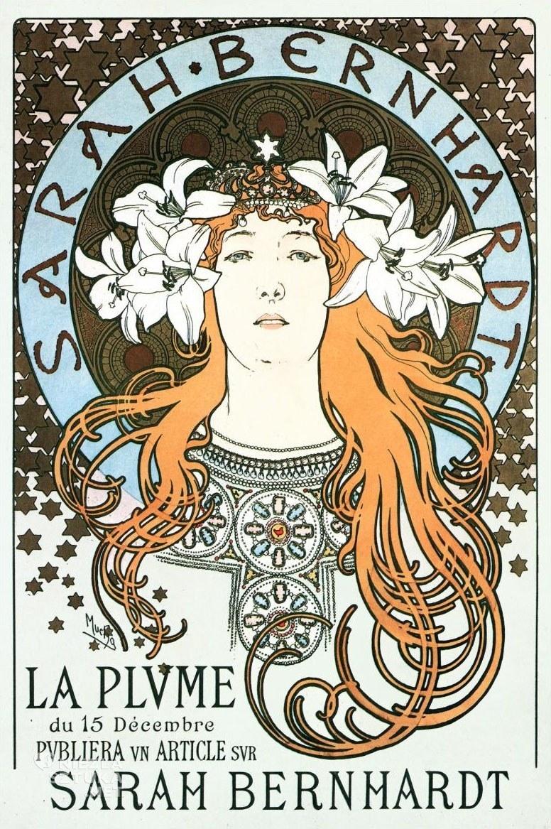 Alphonse Mucha Sarah Bernhardt | 1896, fot.: wikiart.org