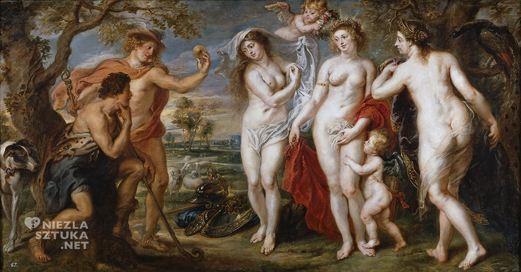 Peter Paul Rubens, Sąd Parysa, mitologia, malarstwo flamandzkie, Niezła Sztuka