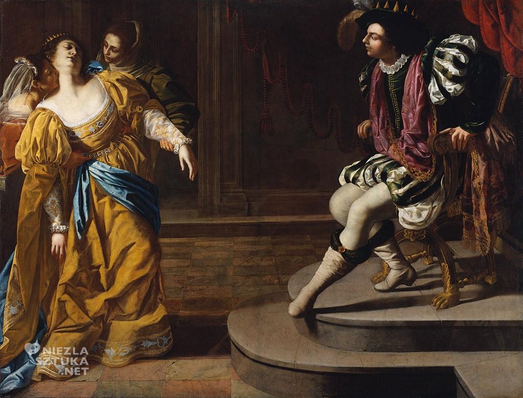 Artemizja Gentileschi <em>Ester przed Ahasuerusem</em> | ok. 1630, 208,3 × 273,7 cm, olej na płótnie, The Metropolitan Museum of Art, Nowy Jork