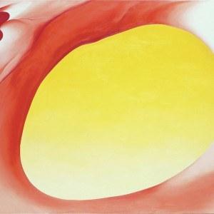 Georgia O'Keeffe Pelvis Series Red with Yellow 1945, Georgia O'Keeffe Museum