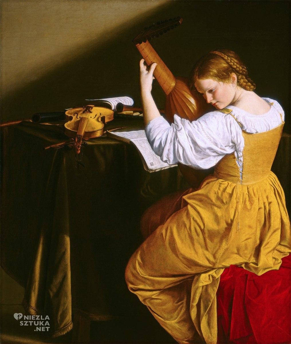 Orazio Gentileschi Lutnistka, 1612-20, olej na płótnie, 143,5 × 129 cm, NGA