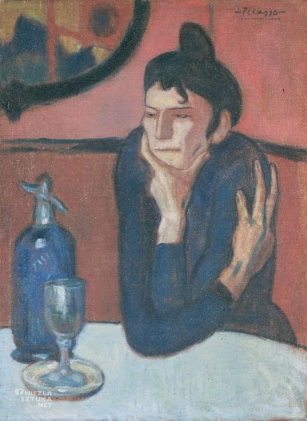 Pablo Picasso, Pijąca Absynt, alkohol, Niezła Sztuka