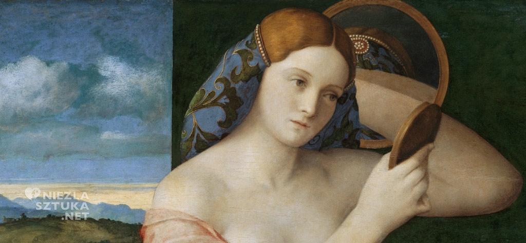 Giovanni Bellini Toaleta młodej kobiety, detal | 1515, olej na płótnie, 62 × 79 cm, Muzeum Historii Sztuki w Wiedniu