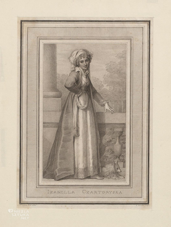 Księżna Izabela Czartoryska, rycina ze zbiorów Biblioteki Narodowej