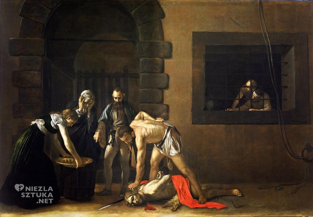 aravaggio Ścięcie św. Jana Chrzciciela | 1608, olej na płótnie, 361 × 520 cm, Konkatedra św. Jana w Valletcie