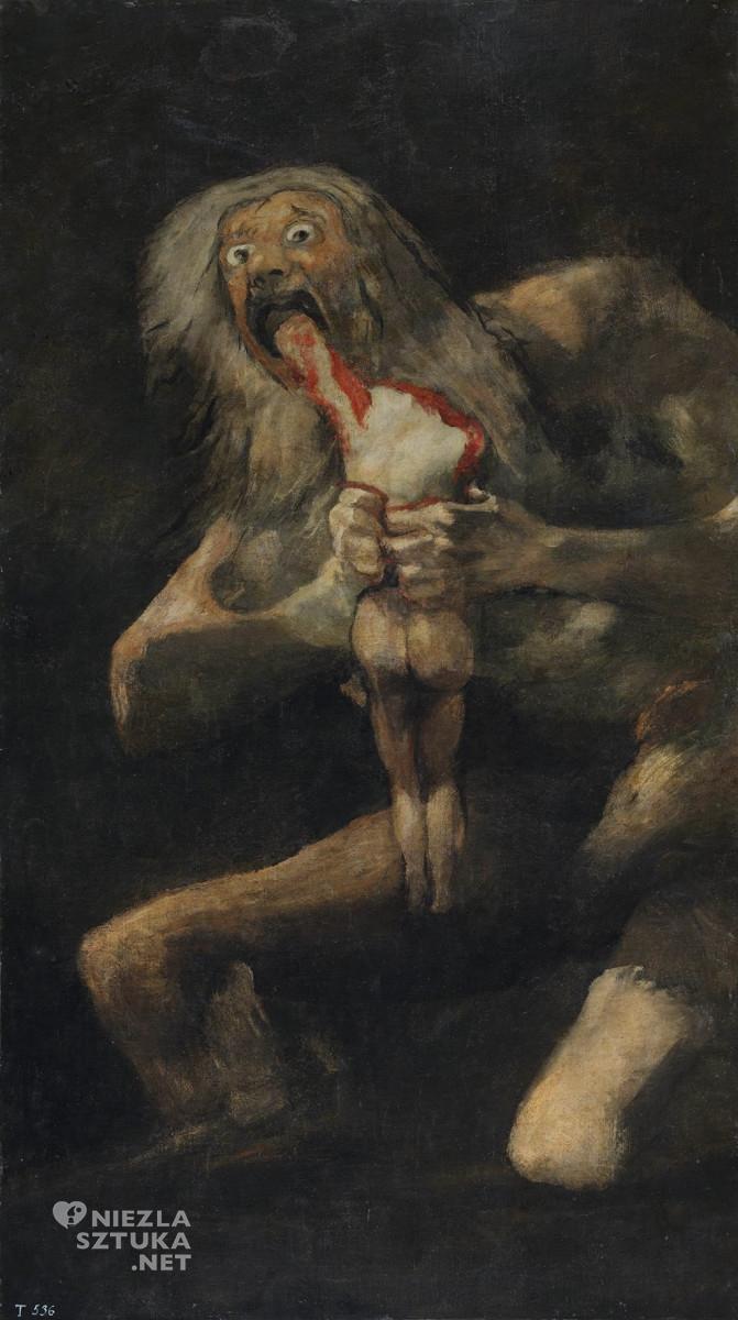 Goya Saturn pożerający swe dzieci | 1819-1823, Madryt, Prado, Niezła sztuka