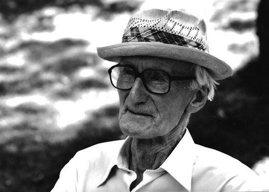 Józef Czapski, 1990, fot. Bohdan Paczowski / wojciechkarpinski.com