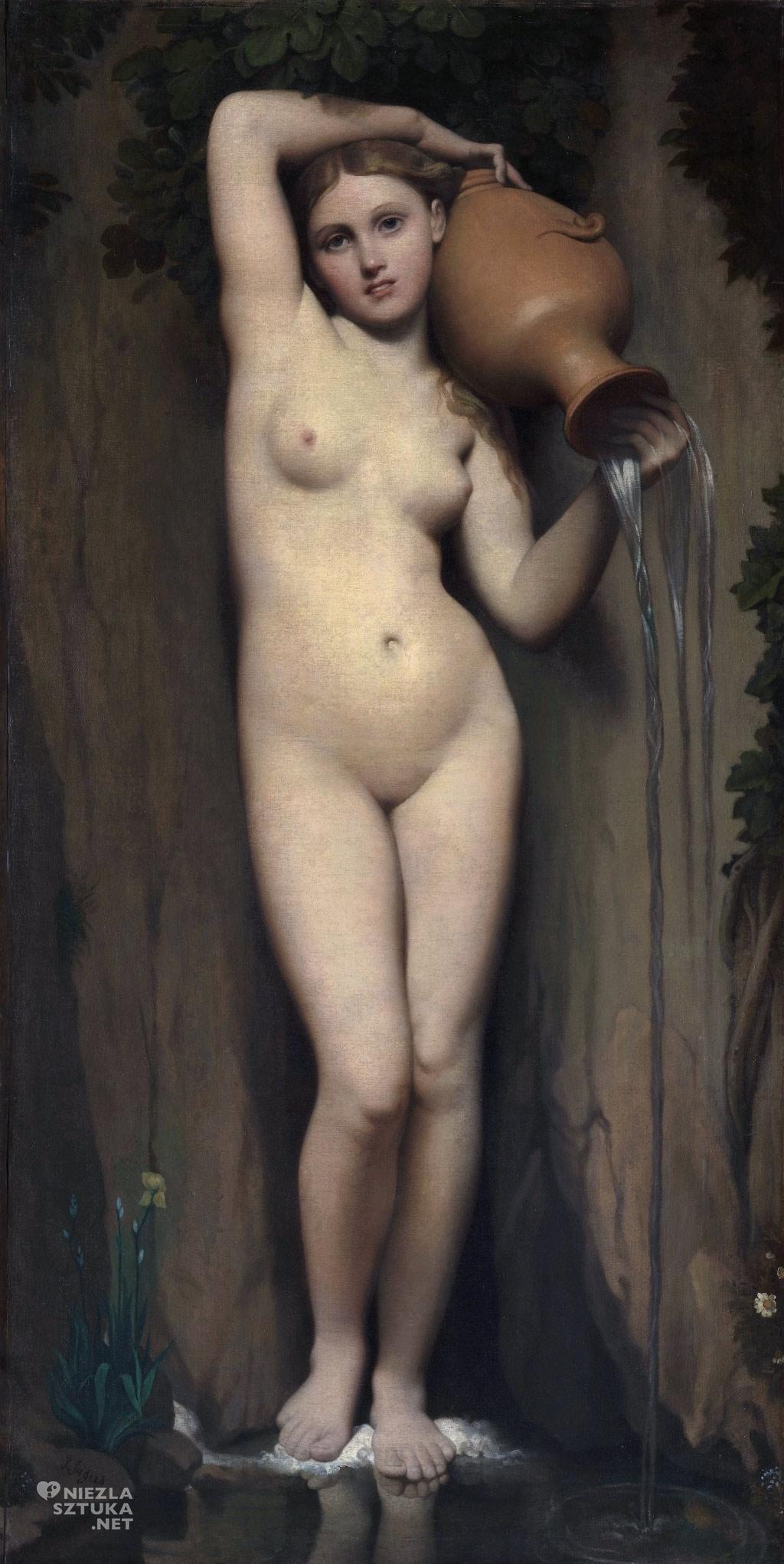 Jean-Auguste-Dominique Ingres <em>Źródło</em> | 1820–1856,<br /> 163 × 80 cm, olej na płótnie, Musée d'Orsay, Paryż