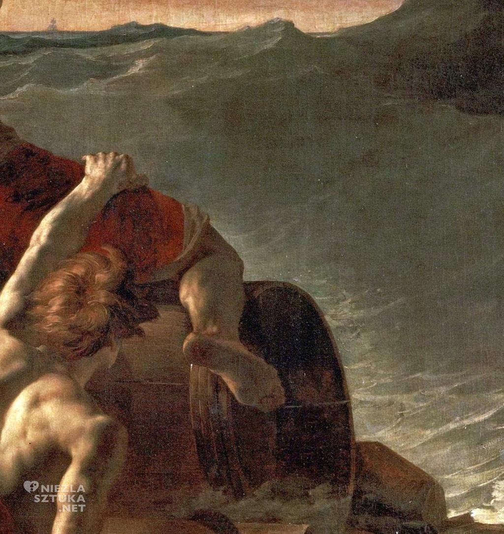 Théodore Géricault Tratwa Meduzy, detal | 1819, 419 × 716 cm, olej na płótnie, Luwr