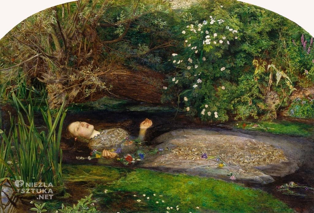 John Everett Millais <em>Ofelia </em>| 1851-1852, <br /> 76,2 × 111,8 cm, olej na płótnie, Tate Britain