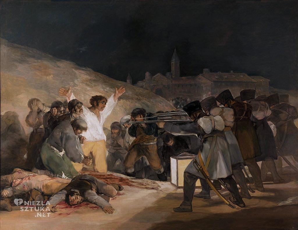 Francisco Goya Rozstrzelanie powstańców madryckich | 1814, olej na płótnie, 268 × 347 cm, Prado
