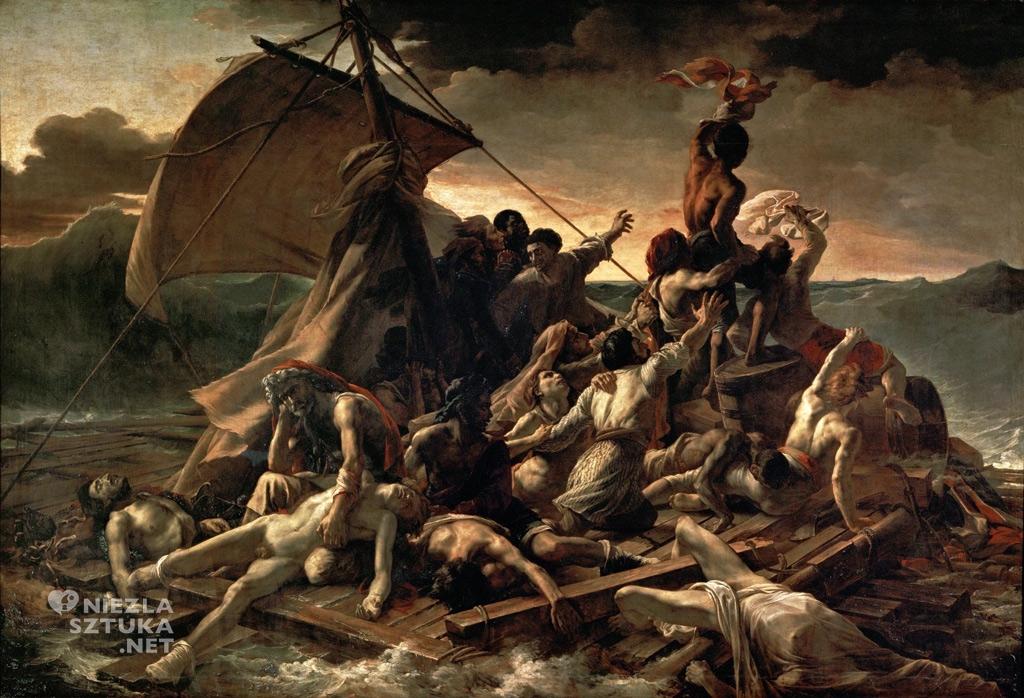 Théodore Géricault <em>Tratwa Meduzy</em> | 1819,<br /> 419 × 716 cm, olej na płótnie, Luwr