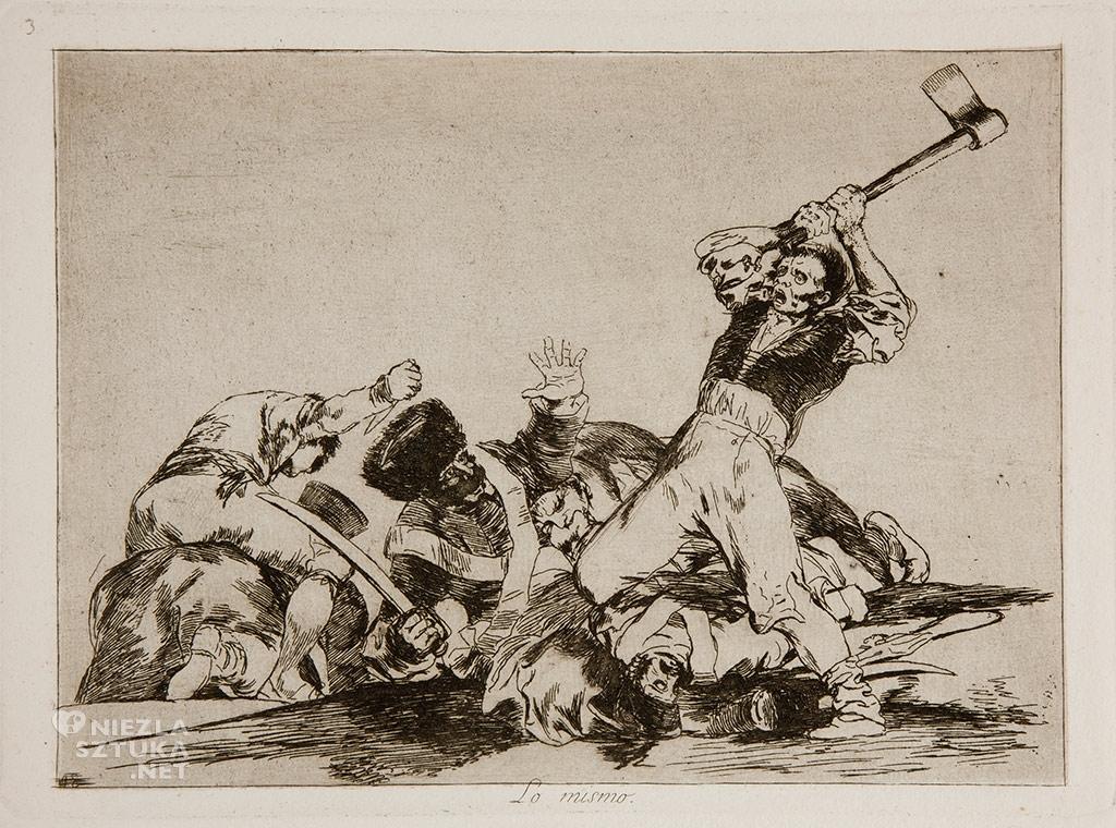 Goya <em>Los Desastres de la Guerra No. 03</em> / <em> Okropności wojny </em> | rok, Museo Prado