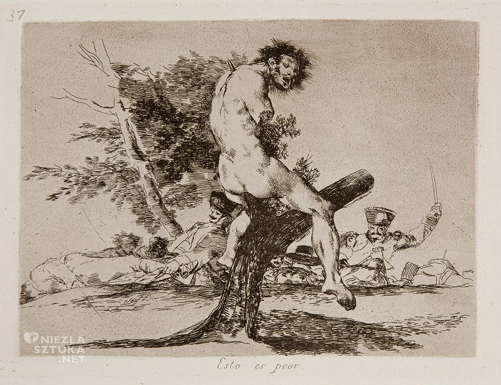 Goya <em>Los Desastres de la Guerra No. 37</em> / <em> Okropności wojny </em> | rok, Museo Prado
