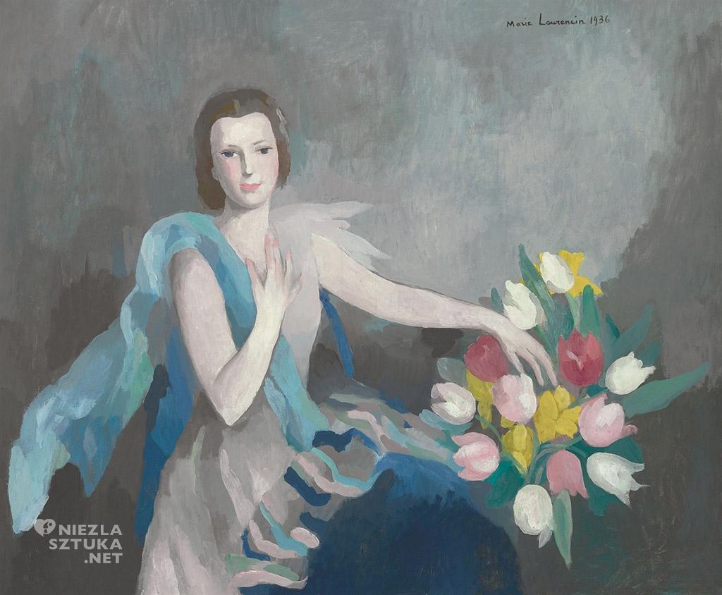 Marie Laurencin <em>Kobieta z tulipanami</em> | 1936, christies.com