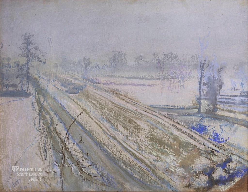 Stanisław Wyspiański, Widok z okna na Kopiec Kościuszki, 1904