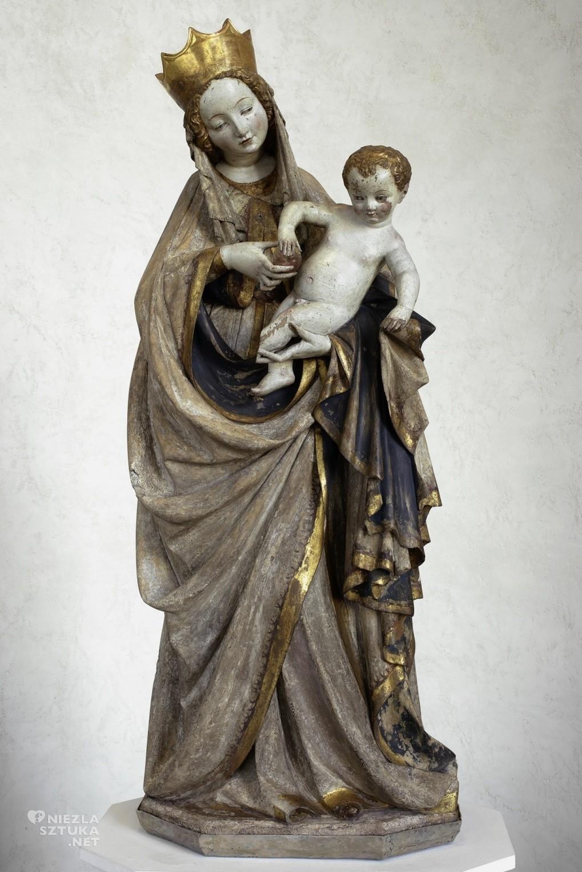 Autor nieznany wrocławski lub praski Piękna Madonna z Wrocławia | ok. 1390-1400, wapień polichromowany i złocony, 116 cm, Muzeum Narodowe w Warszawie