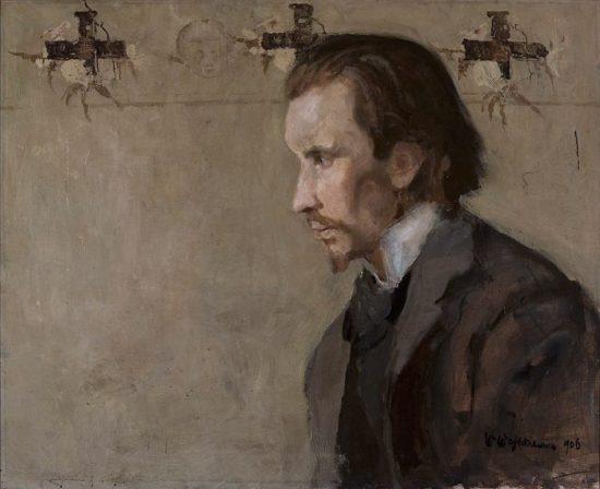 Witold Wojtkiewicz  Portret muzyka Zygmunta Skirgiełły | 1906, olej na płotnie,  65,5 × 80,5, Muzeum Narodowe w Warszawie