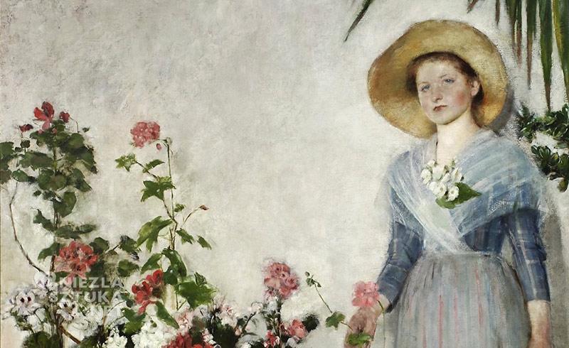 Olga Boznańska W oranżerii (W cieplarni) , detal | 1890, Muzeum Narodowe w Warszawie