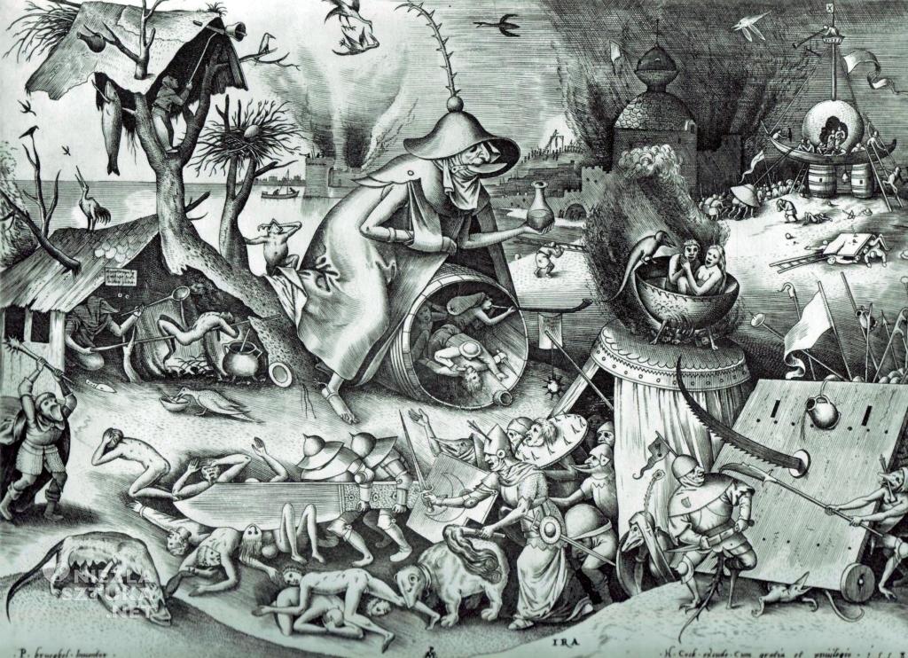 Pieter Bruegel Starszy, Starszy Gniew, Siedem Grzechów Głównych, ryciny, sztuka niderlandzka, Niezła Sztuka