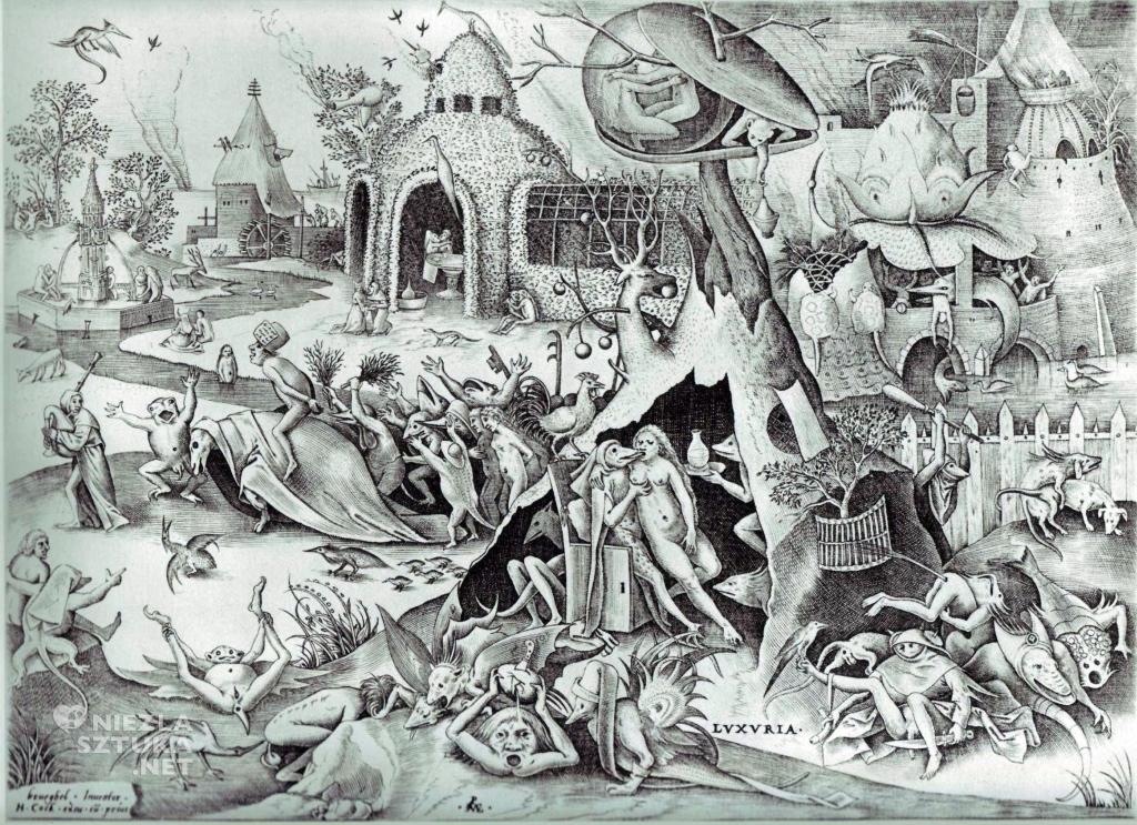 Pieter Bruegel Starszy, Pożądliwość, Siedem Grzechów Głównych, ryciny, sztuka niderlandzka, Niezła Sztuka