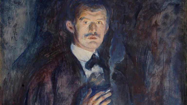 Edvard Munch Autoportret z papierosem | 1895, Niezła sztuka
