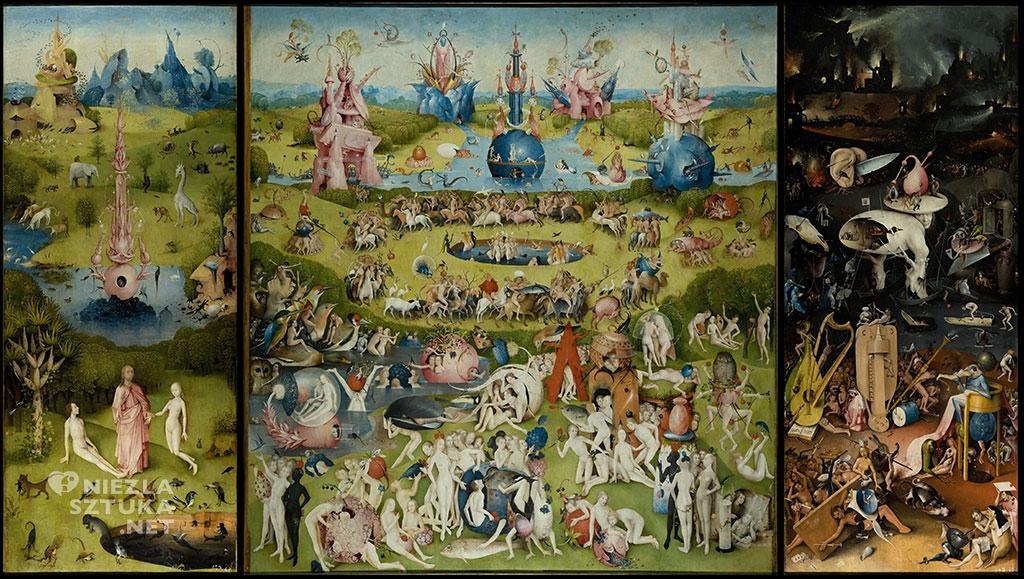 Hieronim Bosch, Ogród Rozkoszy Ziemskich, Tryptyk, malarstwo niderlandzkie, Niezła Sztuka