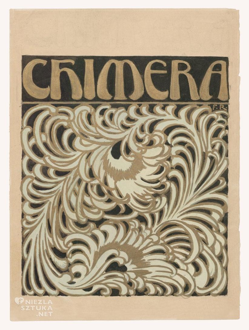 """F. Ruszczyc Okładka """"Chimery"""" Pióra, 1904"""