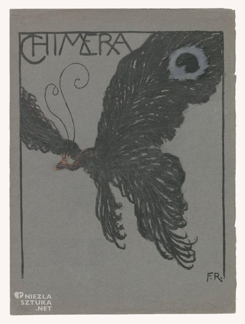 """F. Ruszczyc Okładka """"Chimery"""" Ćma, 1904"""