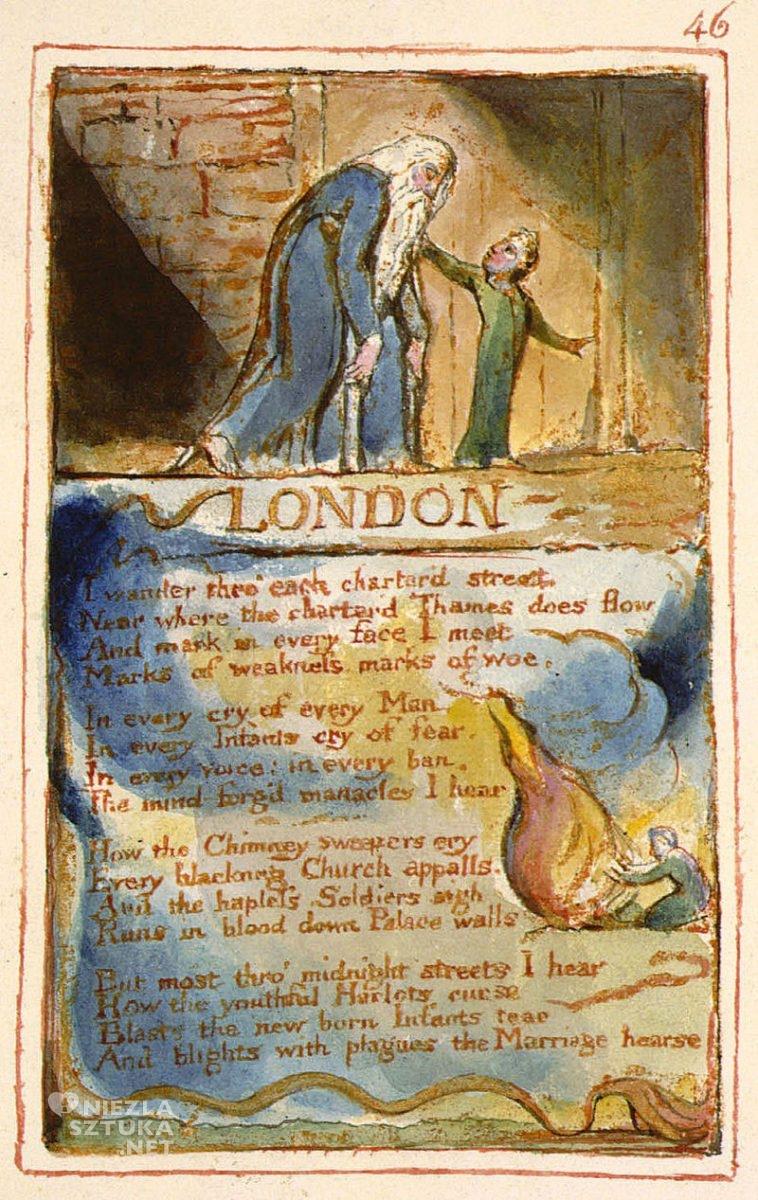 William Blake, ilustracja, wiersz, sztuka angielska, Niezła Sztuka