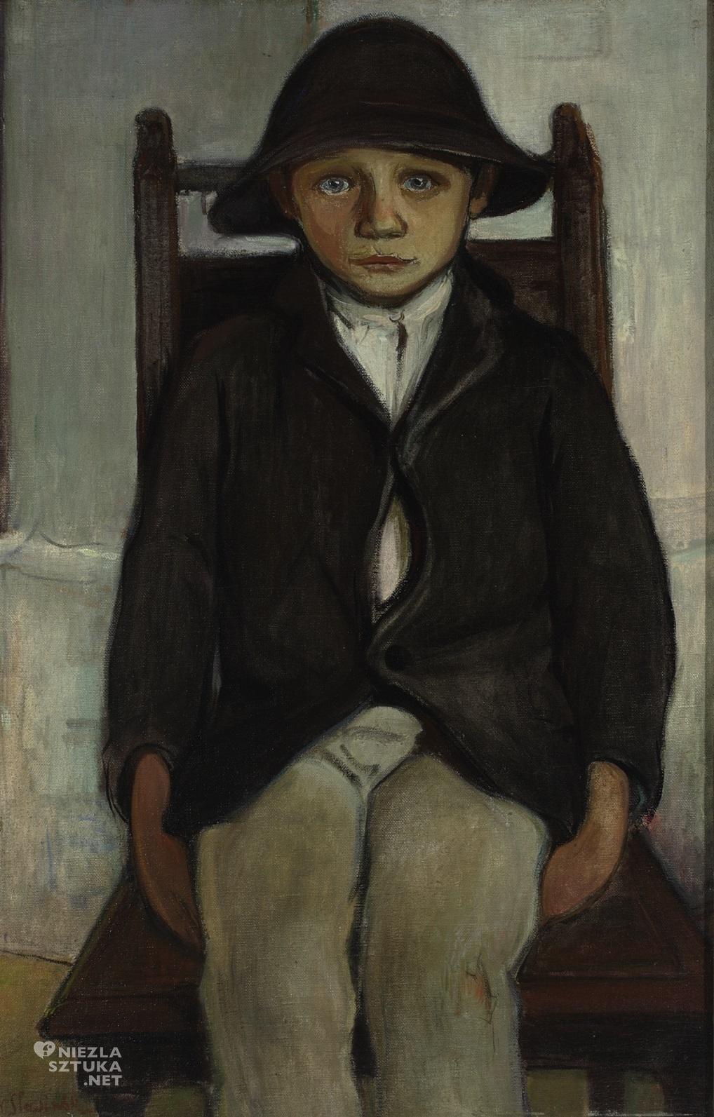 Władysław Ślewiński, Sierota z Poronina, sztuka polska, malarstwo polskie, Niezła sztuka