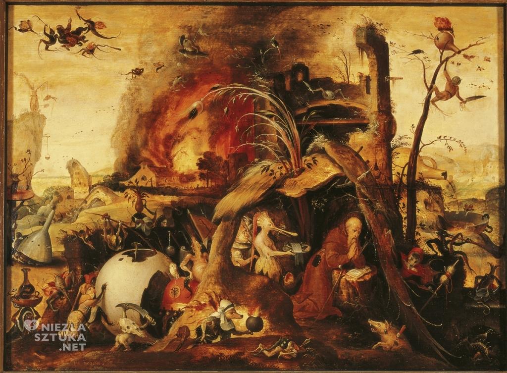Kuszenie św. Antoniego, sztuka niderlandzka, malarstwo religijne, Niezła Sztuka