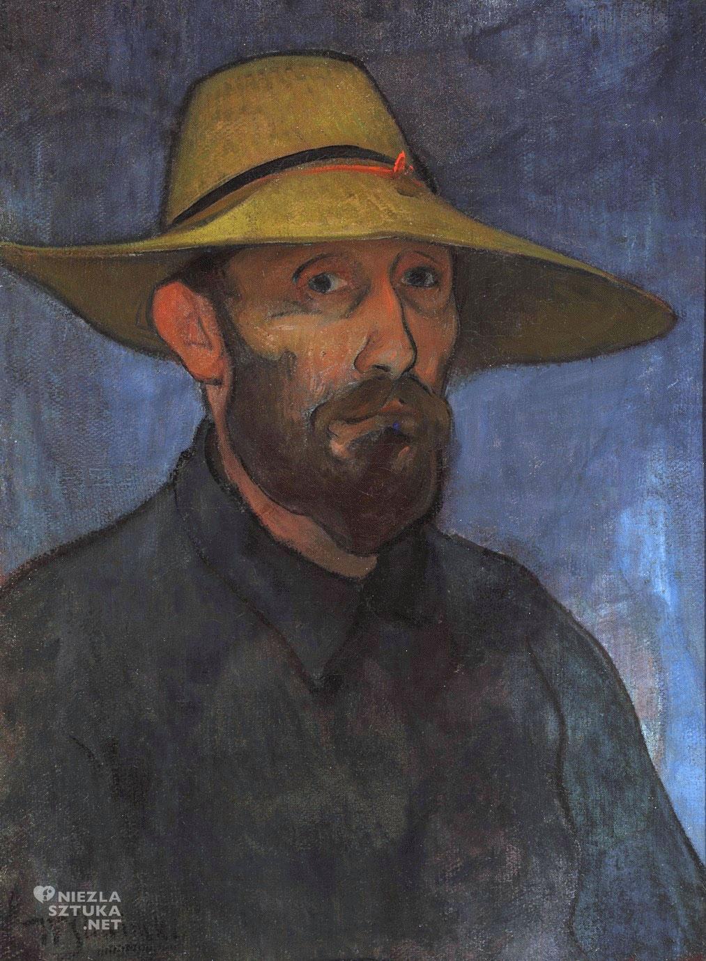 Władysław Ślewiński <em>Autoportret w słomkowym kapeluszu</em> | 1894, Muzeum Narodowe w Warszawie