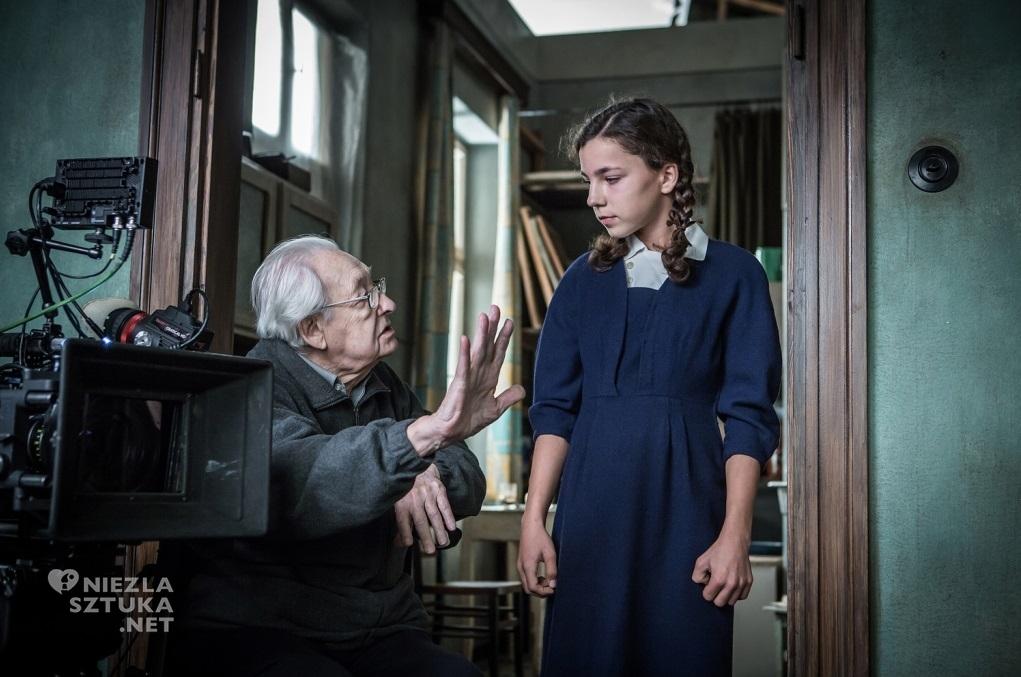 Andrzej Wajda na planie filmu Powidoki, fot. Anna Włoch / Akson Studio