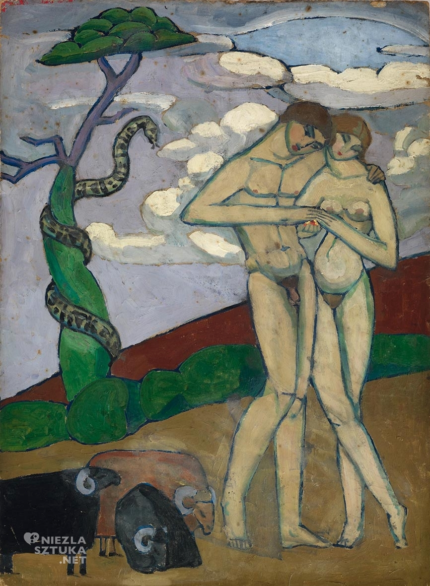 Jeanne HébuterneAdam i Ewa | 1919, olej na kartonie, 81,5 x 59,8cm, Pinacothèque de Paris