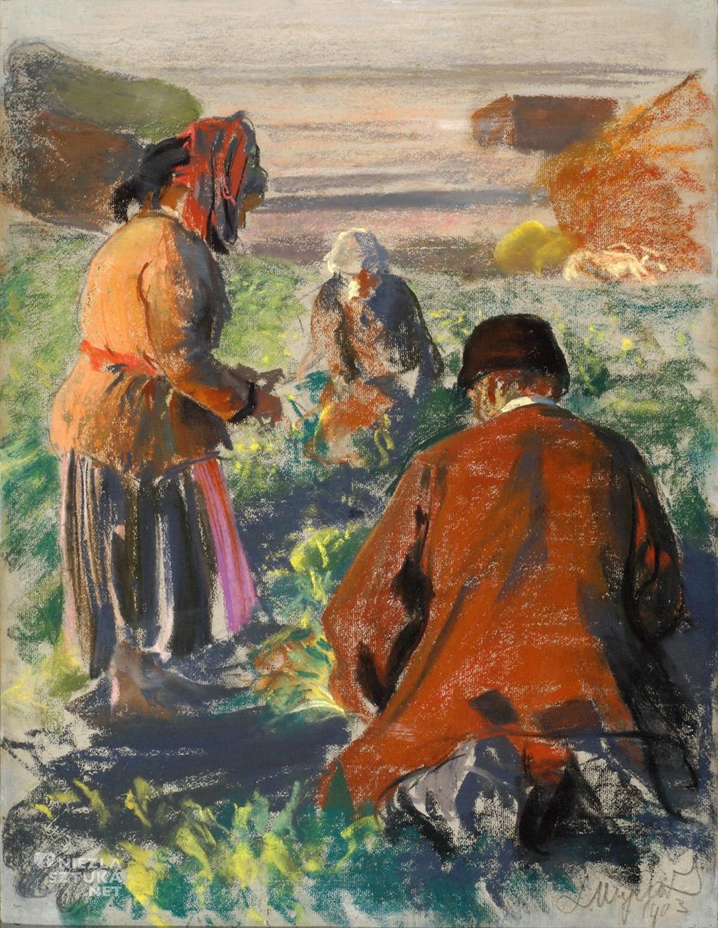Leon Wyczółkowski Kopanie buraków | 1903, Muzeum Okręgowe im. Leona Wyczółkowskiego w Bydgoszczy