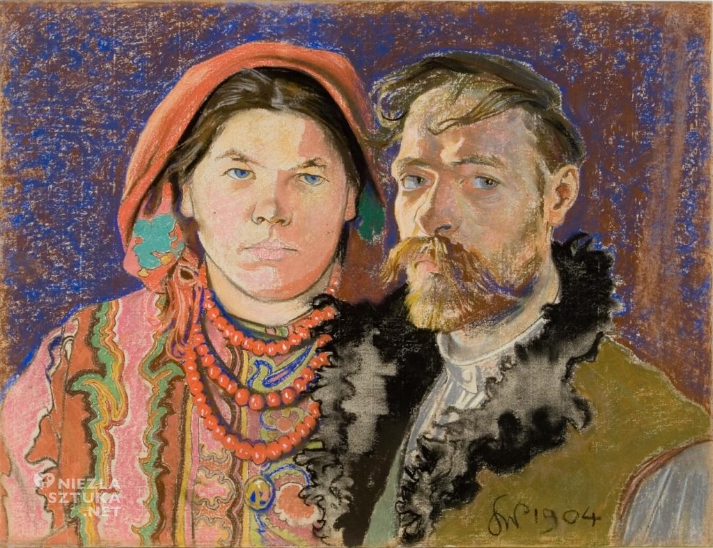 Stanisław Wyspiański, Teodora Pytko, Teofila Pytko, Autoportret z żoną | 1904, Muzeum Narodowe w Krakowie, Niezła sztuka