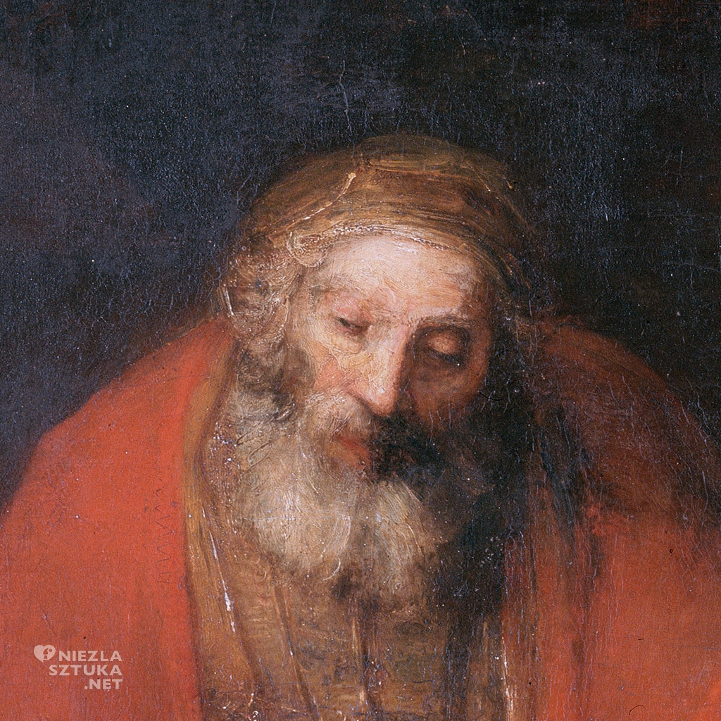 Rembrandt van Rijn Powrót syna marnotrawnego, detal | 1661–1669, 262 cm × 205 cm. Hermitage Museum, Petersburg