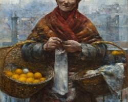 Aleksander Gierymski, Żydówka z pomarańczami, malarstwo polskie, sztuka polska, Niezła Sztuka