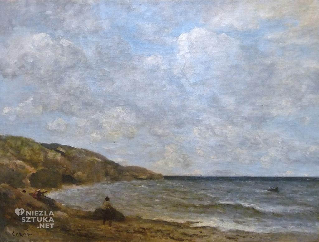 Jean-Baptiste-Camille Corot Plaża w Normandii   ok. 1872-1874